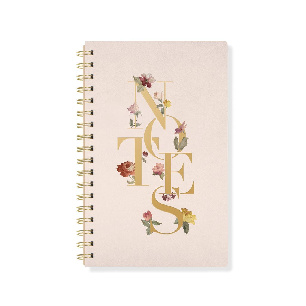Stamped Cover Spiral Bound Journal - Hello World