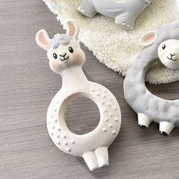 Rubber Teething Ring (assorted) - Hello World