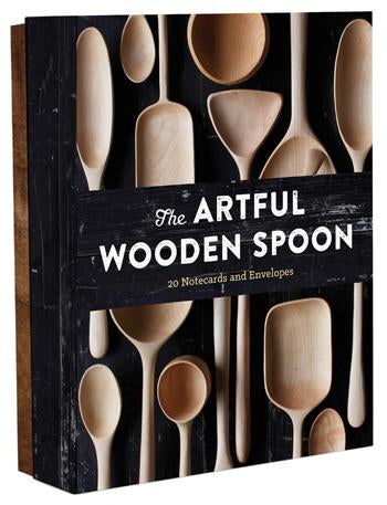 The Artful Wooden Spoon Notecard Set (20 per set) - Hello World