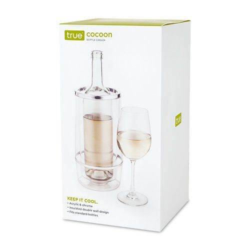 Double Wall Crystal Clear Wine Bottle Cooler - Hello World