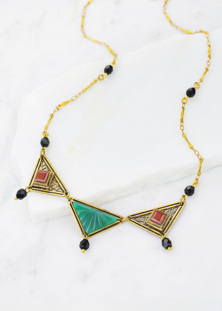 The Deco Vintage Necklace - Hello World