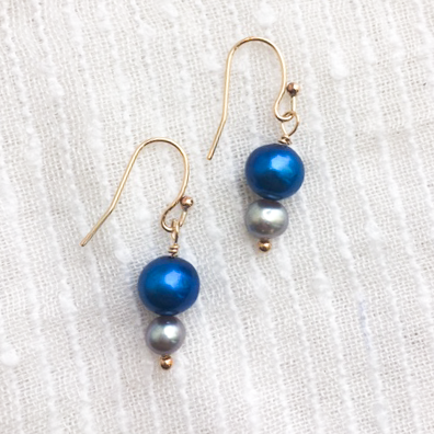 Freshwater Pearl Drop Earrings - Hello World