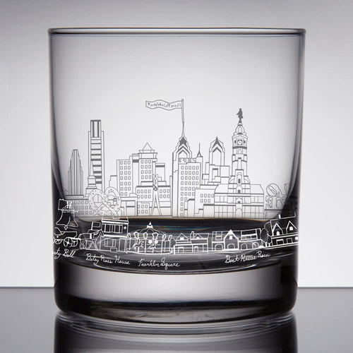 Philly Rocks Glass