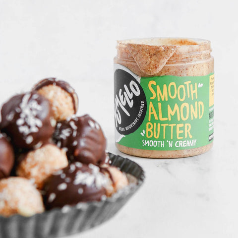 almond butter amlou truffles low carb keto recipe