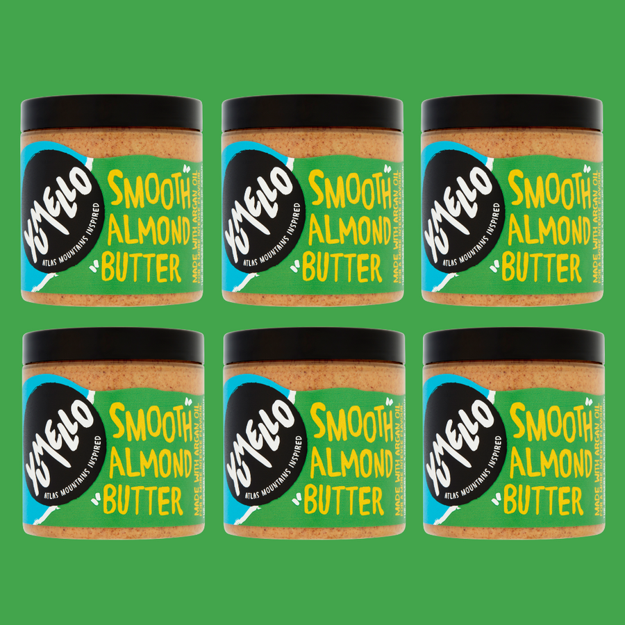 SMOOTH ALMOND BUTTER - 6 JARS