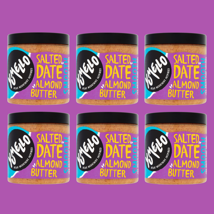 SMOOTH SALTED DATE ALMOND BUTTER - 6 JARS