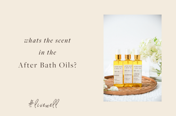 What's the scent in the After Bath Oils?