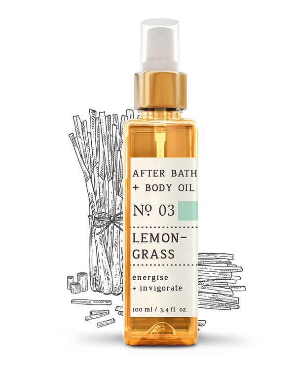 No. 3 Lemongrass After Bath + Body Oil