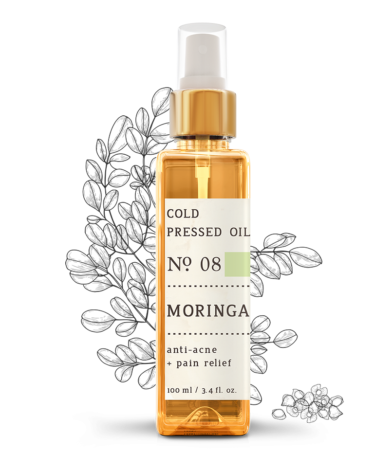 No. 8 Moringa Cold Pressed Oil