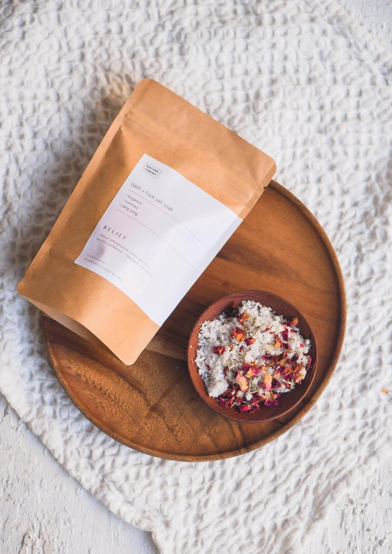 Relief: Bath + Foot Salt Soak