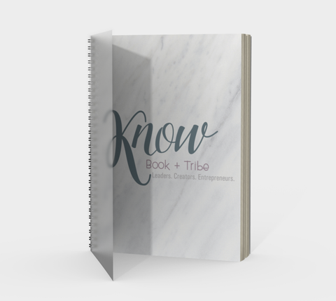 KNOW white marble journal