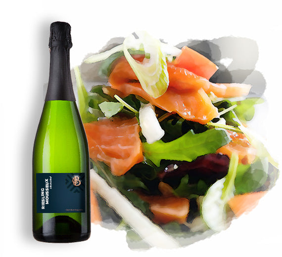 Riesling Mousseux mit Pairing-Empfehlung