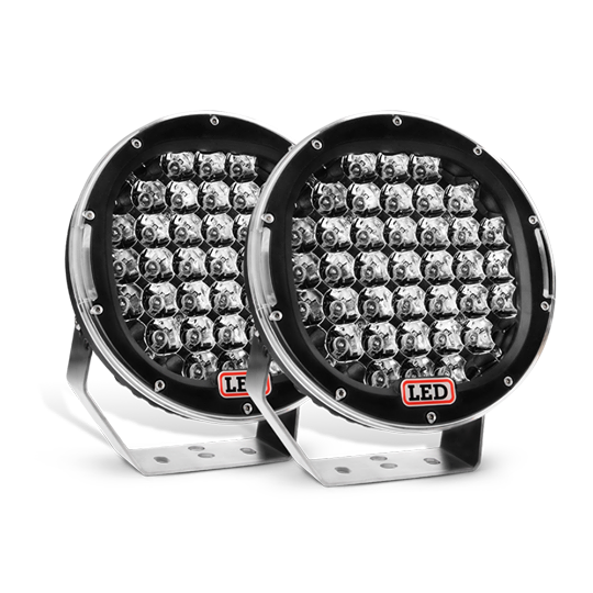 Nilight 9 Inch Round 185W Spot LED lights 2 PC (Black), 2 Year Warranty
