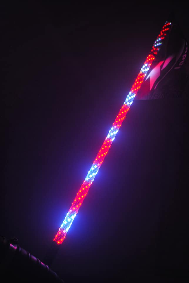 4 Foot Single R1 Industries Wildcat Extreme Lighted Whip - Remote Controlled