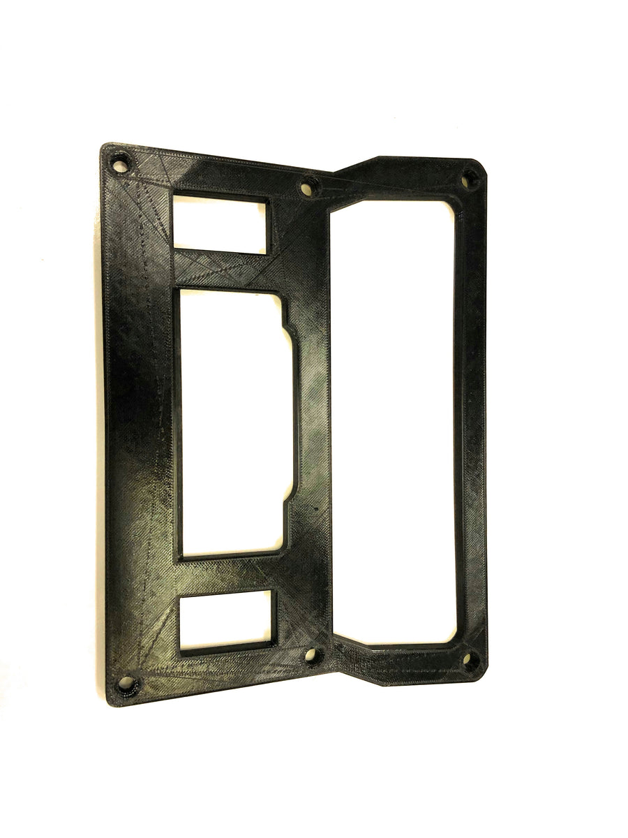 Solid Center Pod for Rugged Radio and Two Rocker Switches