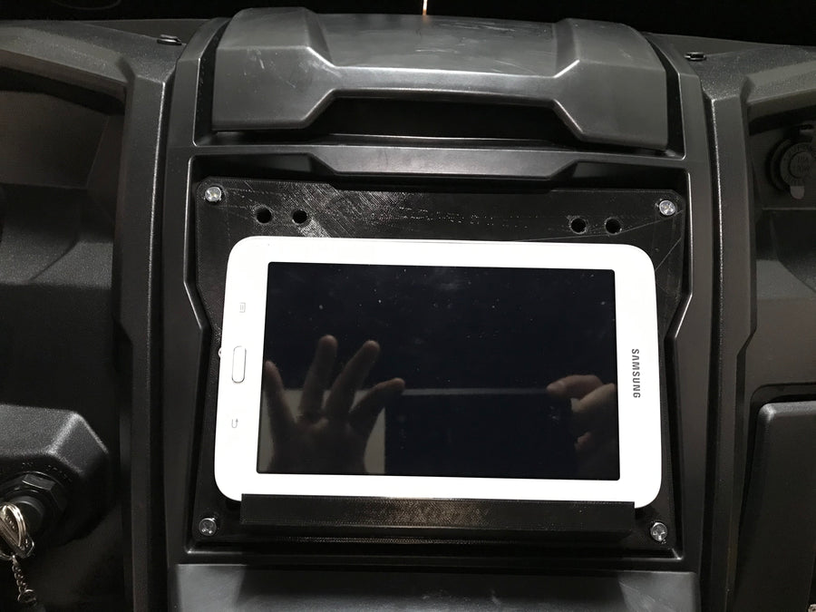 2020 KRX tablet mount with shelf access