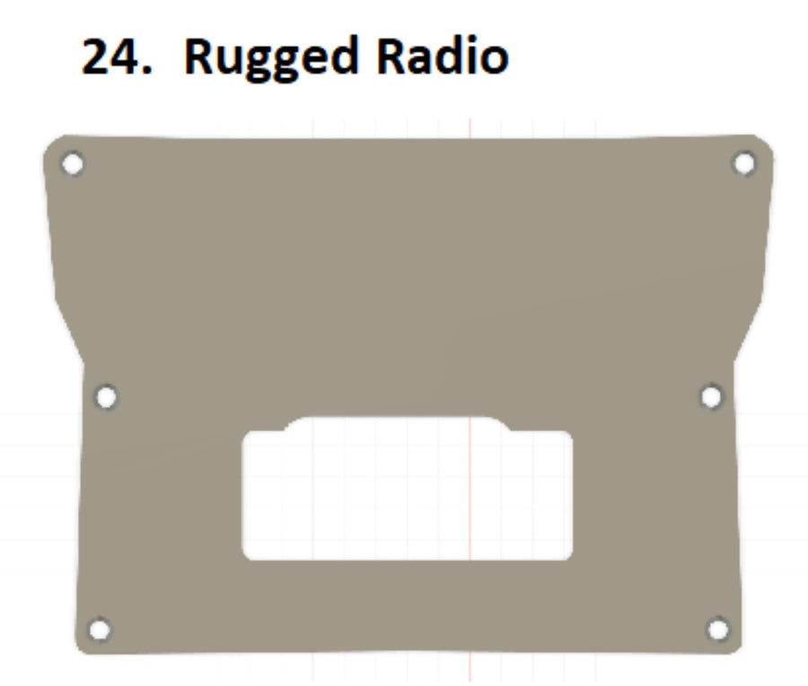 2020 KRX Rugged Radio dash panel