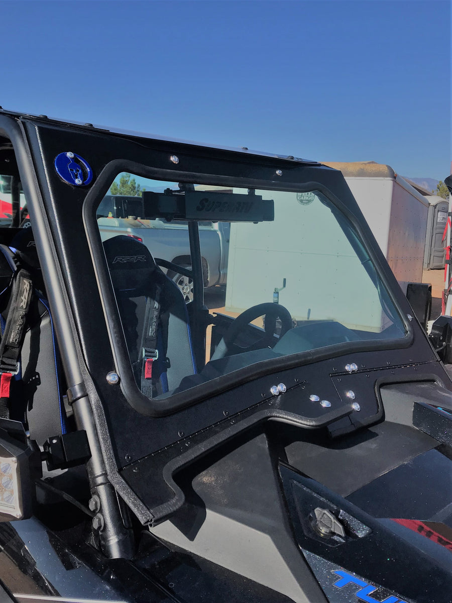 Dirt Warrior Polaris RZR Turbo S Full Glass Front Windshield