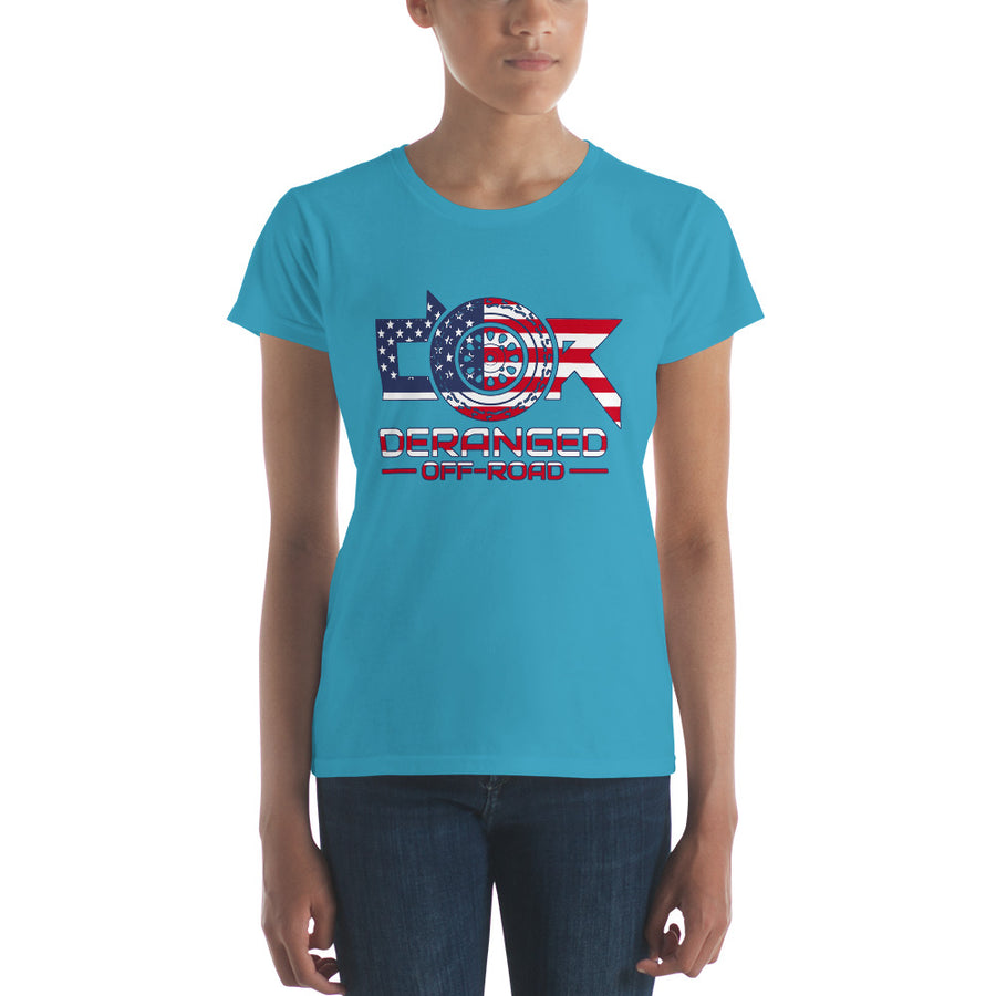 Women's USA Banner - short sleeve t-shirt
