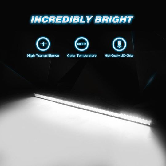 Nilight 51 inch Single Row 250W Combo LED Light Bar - 2 Year Warranty