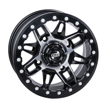 (Set of four) 4/156 Tusk Wasatch Beadlock Wheel 15x7 5.0 + 2.0 Matte Black or Machined Black
