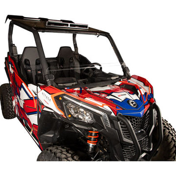 Tusk Removable Half Windshield For Maverick Sport - Clear - Scratch Resistant