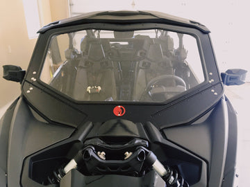 Dirt Warrior CANAM X3 Full Glass Front Windshield