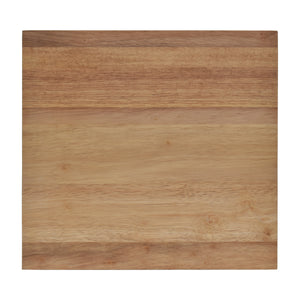Overhead View of Wide Wood Cutting Board