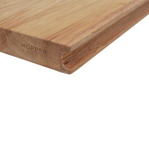 Wood Grain Details and Finish of Rubberwood Cutting Board