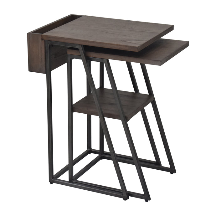 Arthur Grey 2-Piece Nesting Table Set Primary Image