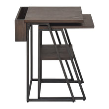 Load image into Gallery viewer, Arthur Grey 2-Piece Nesting Table Set Side View