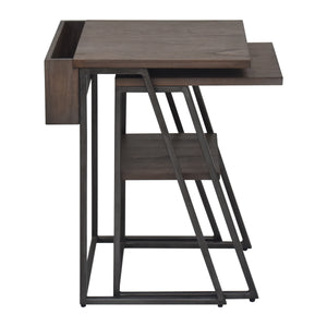 Arthur Grey 2-Piece Nesting Table Set Side View