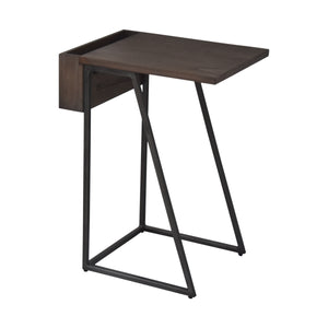 Largest Table in Arthur Grey 2-Piece Nesting Table Set