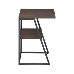 Side View of Nestest Table in Arthur Grey 2-Piece Nesting Table Set