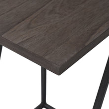 Load image into Gallery viewer, Detail Photo of Wood Grain for Arthur Grey 2-Piece Nesting Table Set