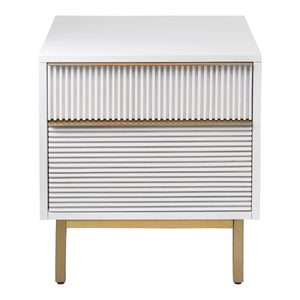 Avant 2 Drawer Nightstand - White