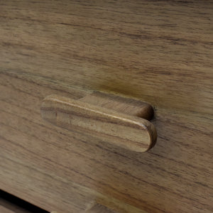 Wood Grain Details and Wooden Drawer Pull of Hopper Media Console