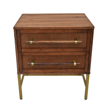 Load image into Gallery viewer, Sophia 2 Drawer Nightstand in Brown Finish From Hopper Studio