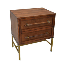 Load image into Gallery viewer, Brown Sophia 2 Drawer Nightstand