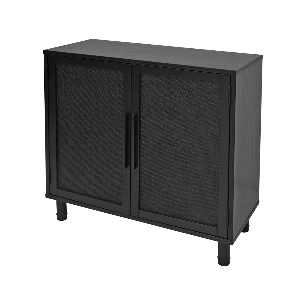 Hopper Studio Delancey 2 Door Cabinet in Black
