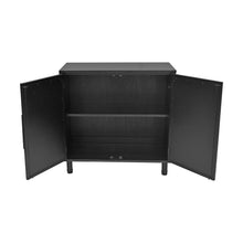 Load image into Gallery viewer, Black Delancey 2 Door Cabinet Inside