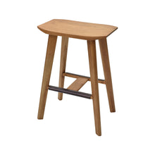 Load image into Gallery viewer, Angled View of Hopper Studio Saddle Stool