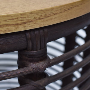 Detail Photo of Dark Option for Perry 2 Piece Nested Table Set Comes in Light or Dark Finish