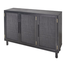 Load image into Gallery viewer, Delancey 3 Door Cabinet - Black Matte