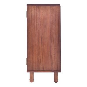 Delancey 3 Door Cabinet - Pecan Brown