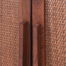 Load image into Gallery viewer, Delancey 3 Door Cabinet - Pecan Brown
