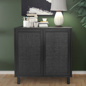 Black Delancey 2 Door Cabinet in Room