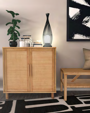 Load image into Gallery viewer, Light Blonde Delancey 2 Door Cabinet in Room