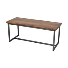 Load image into Gallery viewer, Java Bench with Solid Acacia Wood Top and Iron Frame