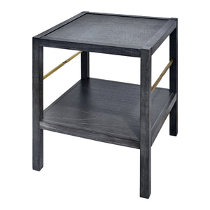 Lagoon End Table - Antique Black